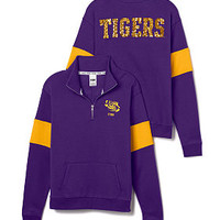Louisiana State University Bling Half-Zip Pullover - PINK - Victoria's Secret