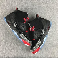 [Free Shipping ] New Nike Air Jordan Son of Mars Black Cement/Cool Gray/White/Red 512245-001 Basketball Sneaker
