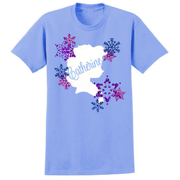 Princess Elsa Frozen Disney Inspired T-shirt Glitter Personalized Girls Name or Birthday Message Any Colors Tee