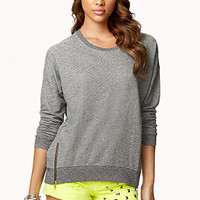 Zippered Slouchy Sweatshirt