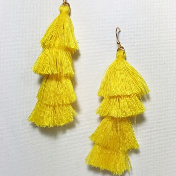 Blossom Fringe Earrings- Multiple Colors