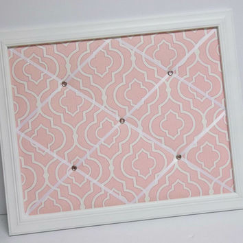 Pink Dalgety Panorama fabric Framed Memo Board
