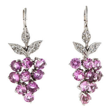 Cathy Waterman 5.50ctw Pink Sapphire and Diamond Earrings