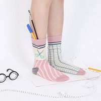 Asymmetrical Scissors Socks