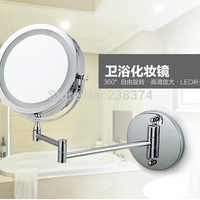 Makeup Mirrors LED Wall Mounted Extending Folding Double Side LED Light Mirror 10x Magnification Bath mirror Toilet Mirror