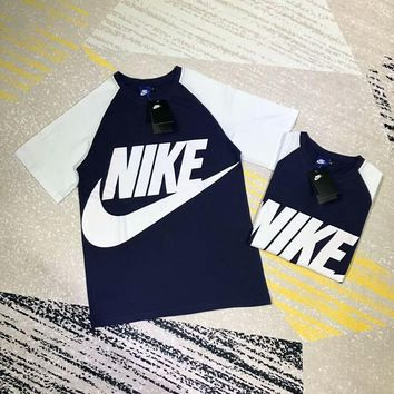 NIKE men and women couple fashion casual round neck short-sleeved T-shirt F-CY-MN