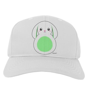 Cute Bunny with Floppy Ears - Green Adult Baseball Cap Hat by TooLoud