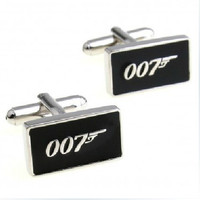 Mens Cufflinks James Bond 007 Cuff links- Geekery Cufflinks Design Personalized 007 Man Cufflink, Mens Gift Ideas