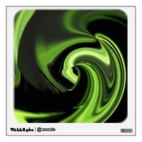 """Chartreuse  Abstract """"northern lights"""" Wall Decal from Zazzle.com"""