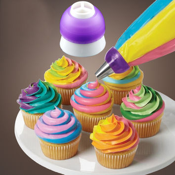 1 pc New Arrival Icing Piping Decorating Nozzle Converter Adapter Fondant Cake Baking Tool Kitchen Tool