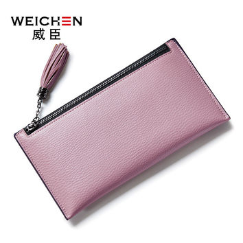 Womens' Large Capacity Multi Card Slots PU Leather Baellerry Wallet Ladies Long Clutch Purse