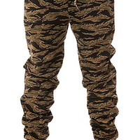The Quality Dissent Fleece Pants in Tiger Camo