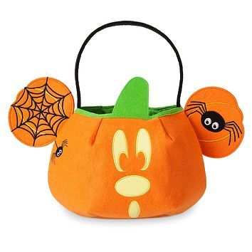 Disney Halloween Trick or Treat Mickey Mouse Bag Glows in the Dark New with Tags