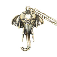 LOVEsick Elephant Head Long Necklace