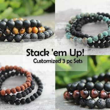 Men's 3pc Customized Bracelets