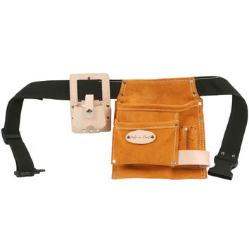 91489 - 5 Pocket Tool Belt in Heavy Duty Suede Leather