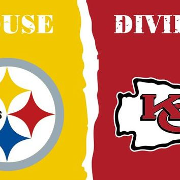 3x5 Pittsburgh Steelers VS Kansas City Chiefs house divide flag with grommets