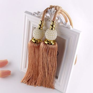 Free Shipping Curtain Tieback Tassel Hanging Balls Curtain Accessories Bedroom Livingroom Supplies 1 Pair