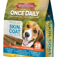 Once Daily Superfood Dental Chew - Skin, Coat & Teeth - SM/MED DOGS - 28 Count - 1.1 lbs. | The Missing Link
