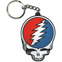 Grateful Dead Rubber Key Chain White