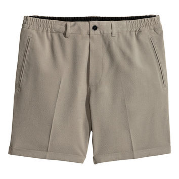 H&M - Seersucker Shorts - Light taupe - Men