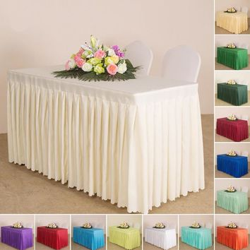Luxury Table Cloth fiber Customize Table Skirt Wedding Baby Shower Birthday Party Decor Hotel meeting decoration Home Textile N3