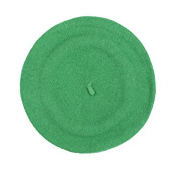 Sakkas 400WW Classic Wool Warm Thick Fashion French Beret - Green / One Size