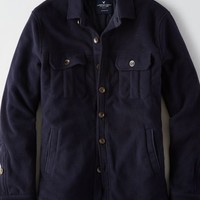 AEO Men's Fleece Shirt Jacket (Peacoat Navy)