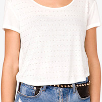 Studded Cropped Tee