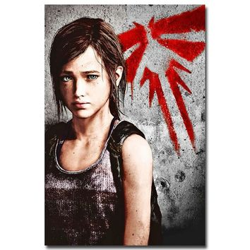The Last of Us Silk Fabric Wall Poster Print Zombie Survival Horror Action TV Game Pitcures 12x18 20x30 24x36 inches 004