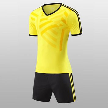 Custom Team Men and Kids Soccer Jerseys Football Outfit Kids 2017 Training Football Jerseys Soccer Team Uniforms Tracksuit