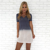 Coastal Tie Dye Jersey Dress