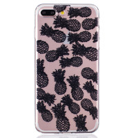 Black Lace Pineapple iPhone 6 6s Plus & iPhone 7 7Plus & iPhone se 5s + Gift Box-82