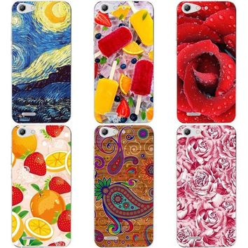 "Luxury Printing Case For ZTE Blade X7 Blade Z7 V6 D6 T660 T663 5.0"" Art Printed Flower Phone Cover Rose Funda Cute Animal Coque"