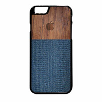 Wood Faux Denim Case iPhone 6 Plus Case