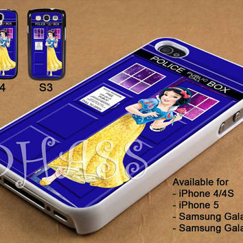 Snow White Disney Tardis Police Box Galaxy Design for iPhone 4/4s/5 Case, Samsung Galaxy S3/S4 Case