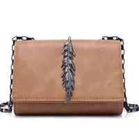 Hot New Solid Women Bag Fashion Leaf Accessory Cross Body Bags Shoulder Lady&'s Messenger Bag Bolosa