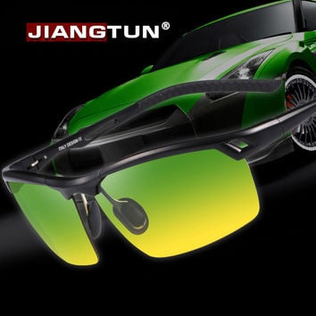 New Aluminum Polarized Sunglasses Half Frame Luxury Men Driving Sun Glasses for Day and Night