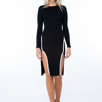 Piped Dreams Double Slit Dress
