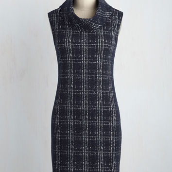 Sure Curator Dress in Navy | Mod Retro Vintage Dresses | ModCloth.com