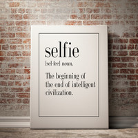 SELFIE Definition Print Man Cave Decor Art Print Home Decor Kitchen Wall Art Funny Art Inspirational Quote Typography Print INSTANT DOWNLAOD