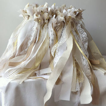 Bulk Wedding Wands, 150 Double Streamers with Bell, Bride & Groom Send Off, Large Event Party Favors