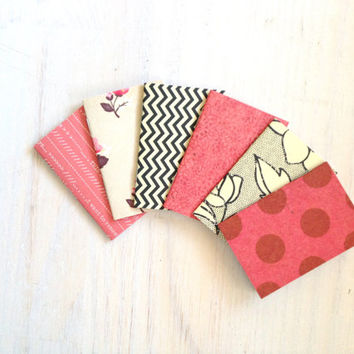 Notebooks: 6 Tiny Journals, Small Notebooks, Red, Black and White, Polka Dot, For Her, For Him, Kids, Gift, Unique, Party Favors, Wedding