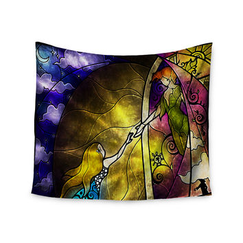 """Mandie Manzano """"Fairy Tale off to Neverland"""" Wall Tapestry"""