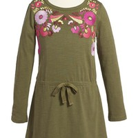 Girl's Tea Collection 'Rayen' Embroidered Dress,