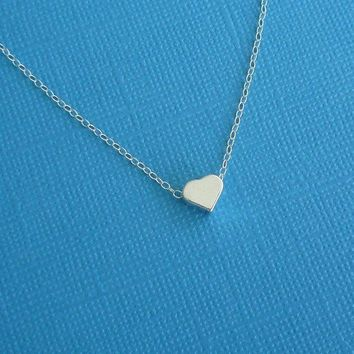 just a little love necklace in sterling silver gift for her valentine's day