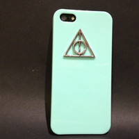 Mint Green Harry Potter and the Deathly Hallows iPhone 5 case