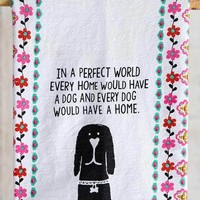 Dog Flour Sack Towel