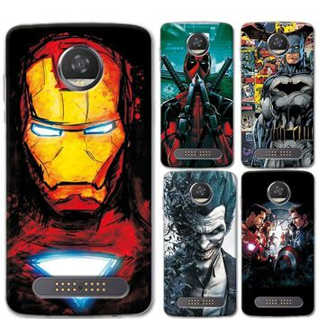 Deadpool Dead pool Taco For Motorola Moto Z2 Play Phone Cases Cover 5.5 inch Charming Marvel Avengers Captain America  Coque For Moto Z2 Play AT_70_6