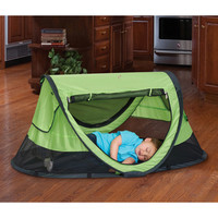 Baby Portable Travel Tent Bed with UV Protection and Carry Bag, Green